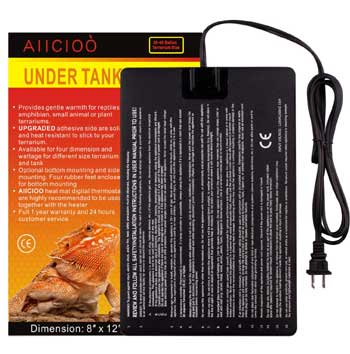 "AIICIOO Reptile Heating Pad 8""x12"", 16 watts"