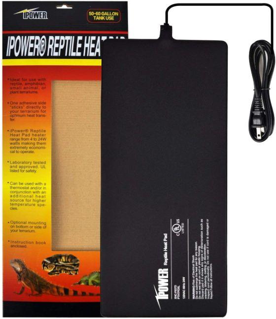 Ipower Reptile Heat Pad 8x18 in, 24w