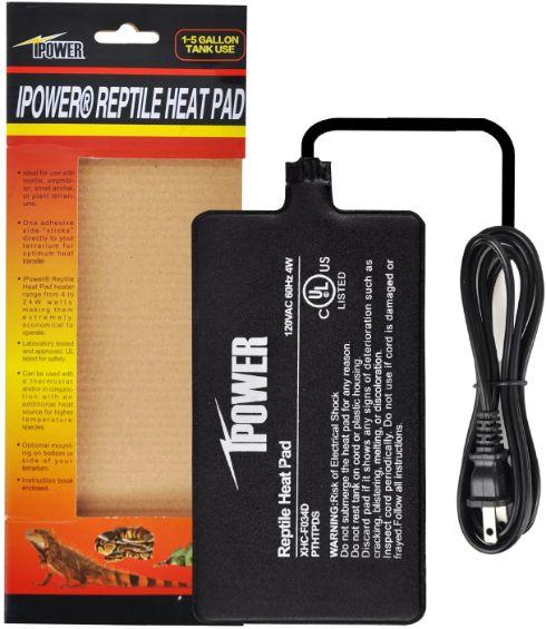 Ipower Reptile Heat Pad 4x7 in, 4w