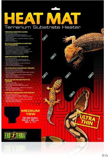 Exo Terra Heat Mat Terrarium Substrate Heater, 10x11 in, 16 Watt