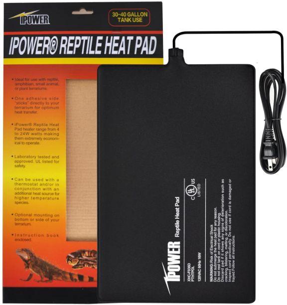 Ipower Reptile Heat Pad 12x8 in, 16w